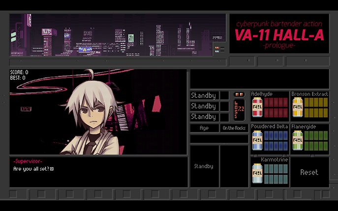 VA-11 HALL-A Prologue